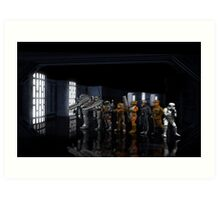 StarWars Dark Forces pixel art Art Print