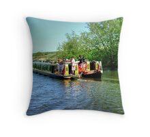 Duke and Duchess on river Weaver..........! Throw Pillow