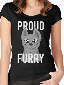 proud furry Women's Fitted Scoop T-Shirt