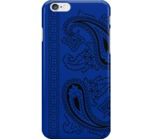 Blue and Black Paisley Bandana  iPhone Case/Skin