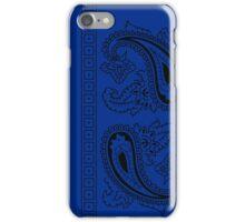 Blue and Black Paisley Bandana  iPhone Case/Skin