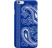 Blue and White Paisley Bandana  iPhone Case/Skin