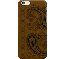 Brown and Black Paisley Bandana  iPhone Case/Skin