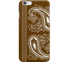 Brown and White Paisley Bandana  iPhone Case/Skin