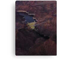 Hover Dam at night Canvas Print