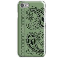 Olive Green and Black Paisley Bandana   iPhone Case/Skin