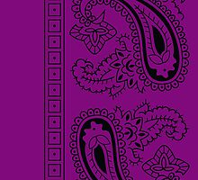 Purple and Black Paisley Bandana   by ShowYourPRIDE