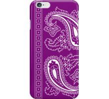 Purple and White Paisley Bandana   iPhone Case/Skin