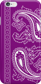 Purple and White Paisley Bandana   by ShowYourPRIDE