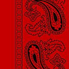 Red and Black Paisley Bandana   by ShowYourPRIDE