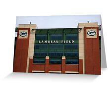 Lambeau Field - Green Bay Packers Greeting Card