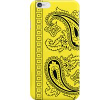 Yellow and Black Paisley Bandana   iPhone Case/Skin
