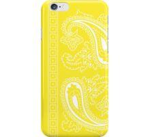 Yellow and White Paisley Bandana   iPhone Case/Skin