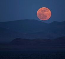 Full Moon at Pyramid Lake by ZenCowboy