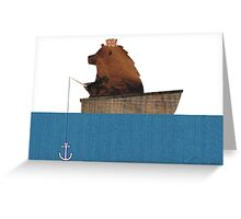 Cheltenham the Bear: Fishing Trip Greeting Card