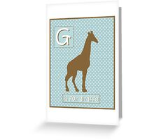 """G"" is for Giraffe Greeting Card"