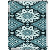 White and Blue Lace over Black iPad Case/Skin