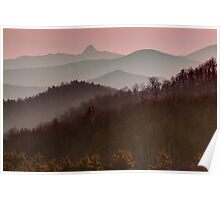 Blue Ridge Sunset Poster