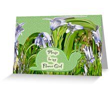 Flower Girl Request - Purple Hyacinths Greeting Card