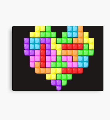 Tetris heart Canvas Print