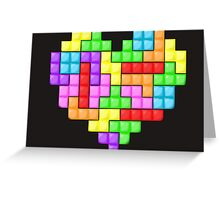 Tetris heart Greeting Card