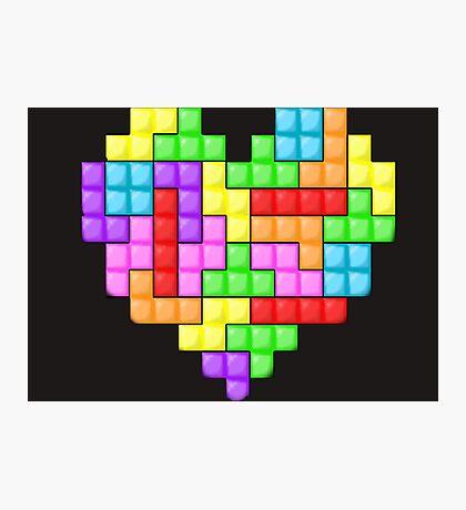 Tetris heart Photographic Print