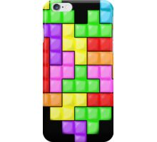 Tetris heart iPhone Case/Skin