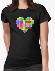 Tetris heart Womens Fitted T-Shirt