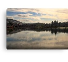 Morning reflection on the lake Canvas Print