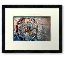 Wheel on the wall Framed Print