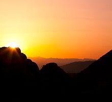 Desert Sunset, 49 Palms Oasis Trail by Peter B