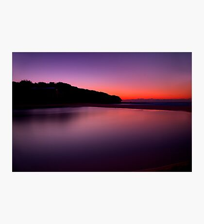 Sunrise at North Curl Curl Surf Club Photographic Print