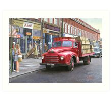 "Morris ""Corona soft drinks"" lorry. Art Print"