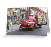 "Morris ""Corona soft drinks"" lorry. Greeting Card"