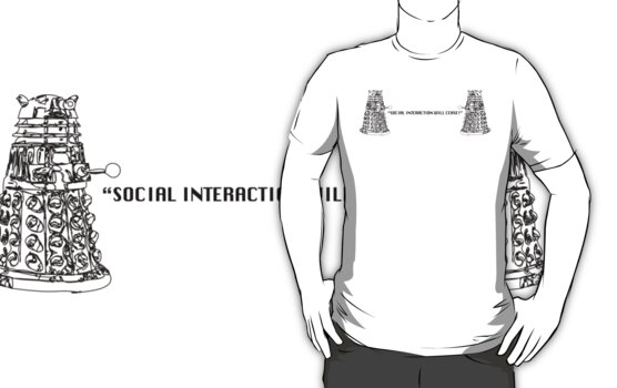 """SOCIAL INTERACTION WILL CEASE!"" NO. 2 (black print) by Corneilius"