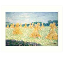 The Young Ladies of Giverny, Sun Effect by Claude Monet Art Print
