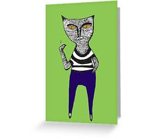 cool cat Greeting Card