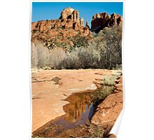 Cathedral Rock Reflection Poster