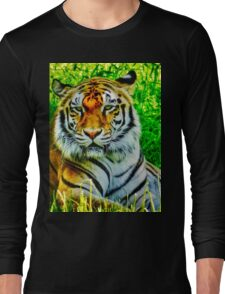 Bengal Tiger's Stare Long Sleeve T-Shirt
