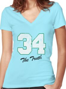 Celtics Numbers - The Truth no. 34 Women's Fitted V-Neck T-Shirt