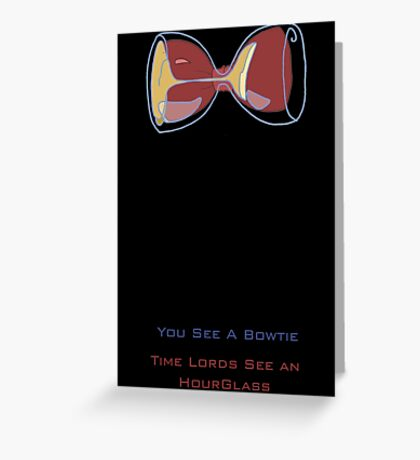 Doctor Who's Bowtie Greeting Card