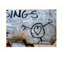 I heart me! Art Print