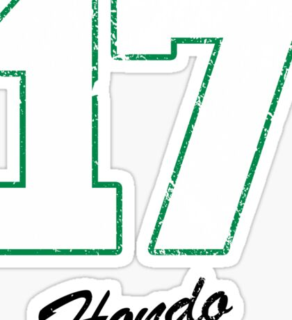 Celtics Numbers - Hondo no. 17 Sticker