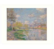 Spring by the Seine by Claude Monet Art Print