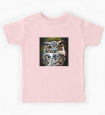 The Great Horned Owl Kids Tee