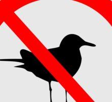 Seagull No Seagulls Sign Sticker