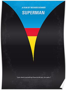 No086 My Superman minimal movie poster by Chungkong