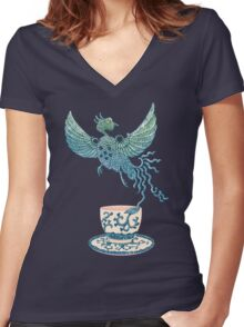 Phoenix Tea Women's Fitted V-Neck T-Shirt