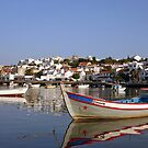 Ferragudo Harbour - Blue Calm by A3Art