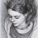 Portrait of young girl by thedrawinghands